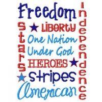 Patriotic Word Art