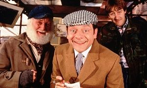 'Take a butchers, Rodney': Del Boy used cockney rhyming slang in BBC comedy Only Fools and Horses.