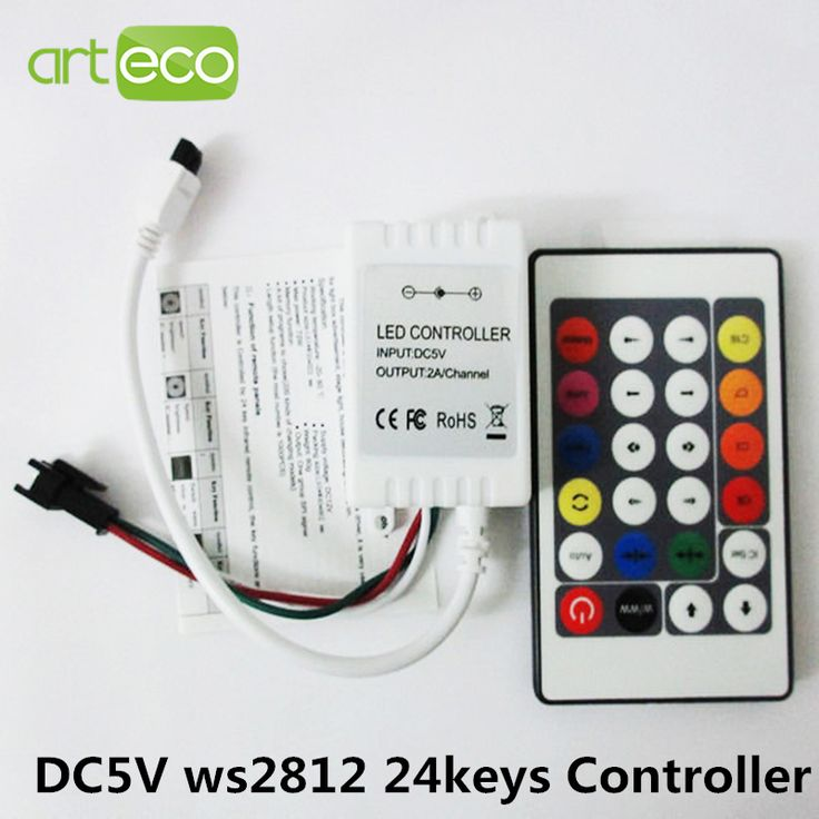 Trend DC V IR remote controller for WS RGB LED strip Test WSB WS WS Pixel LED