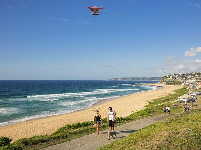 Morning exercise at Merewether Beach, Newcastle