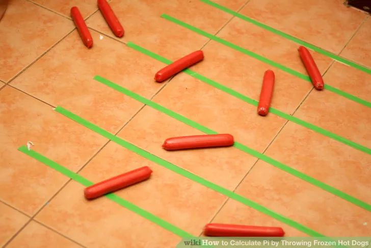 Calculate Pi by Throwing Frozen Hot Dogs