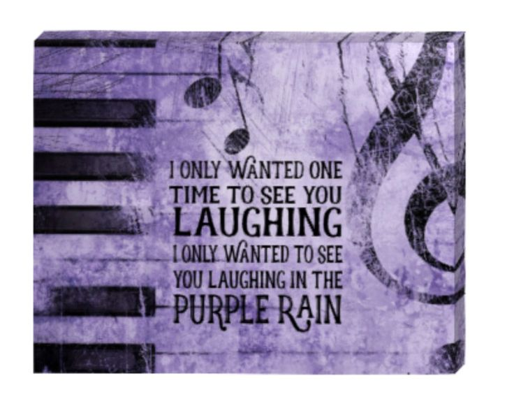 PRINCE Purple RAIN lyrics print canvas art, I only wanted to see you laughing in the purple rain. Other lyrics available by dreamweaverprints on Etsy