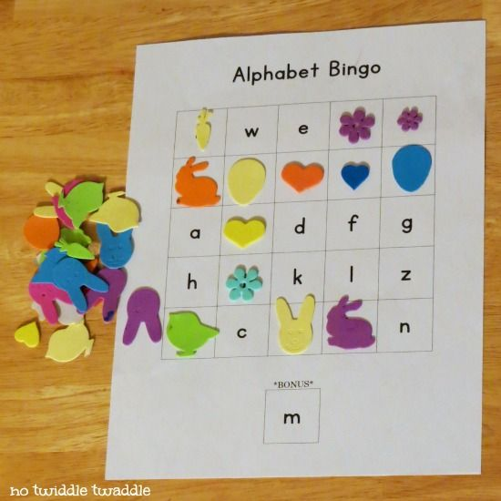 Alphabet Bingo: a simple, quick way to review abcs with a small kid