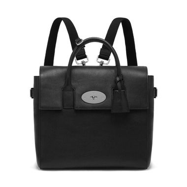 Mulberry - Back in stock - Cara Delevingne Bag in Black Natural Leather