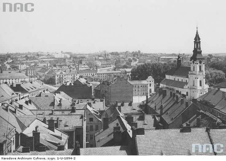 Kalisz after reconstruction (95% of Kalisz was completely destroyed in 1914)