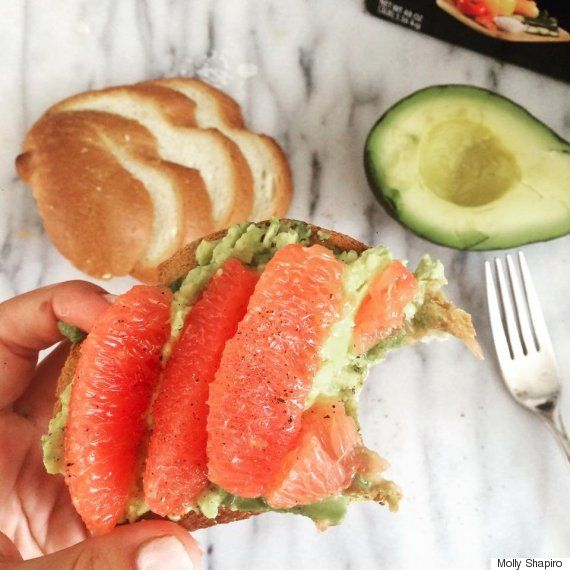Grapefruit Avocado Toast is the definition of breakfast goals