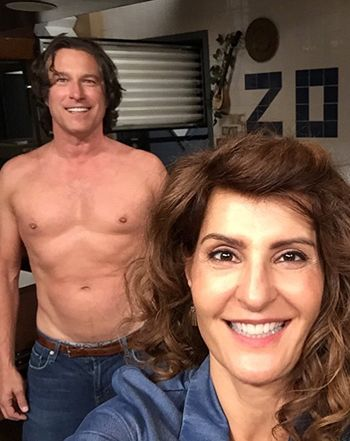 Nia Vardalos, Shirtless John Corbett Do My Big Fat Greek Wedding 2 Pic - Us Weekly