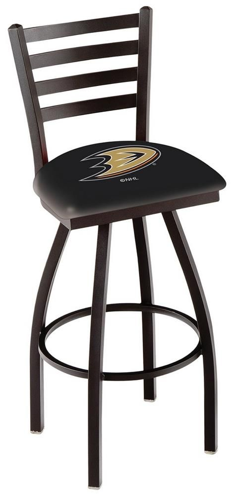 Anaheim Ducks Swivel Bar Stool with Ladder Back