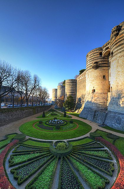 Beautifully tended gardens ~ of Chateau d'Angers, France