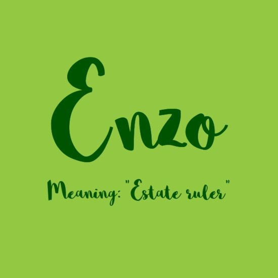 Enzo - European Boy Names That Are On the Rise. This is one of my character's name.