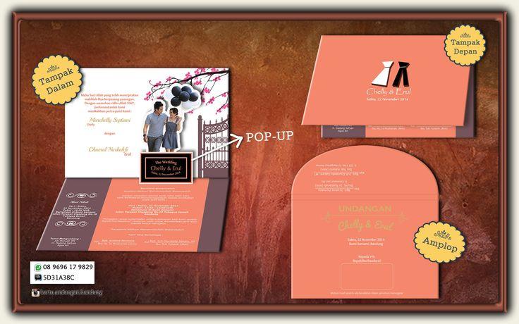 Harga Rp. 10.000 Order Minumum Quantity 300  Fast Respon :  Bpk. Deny 08 9696 17 9829  Pin BB 5D31A38C Jl. Pagarsih No. 31 Bandung Kartu Undangan Hard Cover model Pop Up (3D). Jika Anda menginginkan kartu undangan yang tampak berbeda dengan yang lain, kartu undangan ini sangat cocok untuk anda pilih. Dengan design Pop Up (3D) anda bisa memasang photo pre Wedding untuk dibuat tampak 3 Dimensi artistik dan unik.