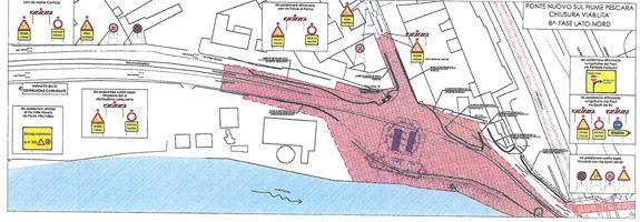 Pescara Ponte Nuovo: nei prossimi giorni chiusura di alcuni tratti di via Valle Roveto
