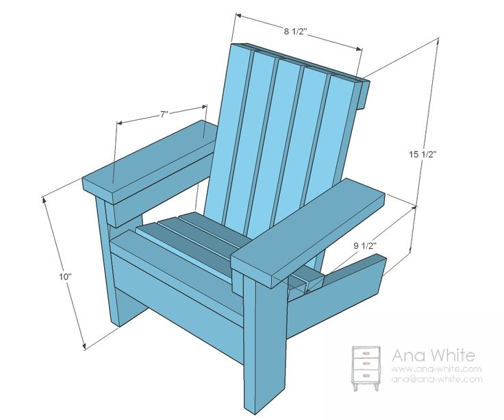 Adirondack Chair Plans Ana White | Build a Fiona's Doll Adirondack Chair | Free and Easy DIY Projec...
