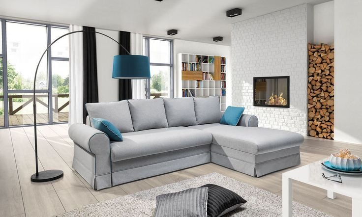Couchgarnitur Sofa Garnitur Schlafsofa BELLE mit Schlaffunktion L Form Sofa