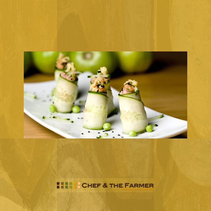 """Our party menus rotate seasonally and range from passed hors d'oeuvres, heavy hors d'oeuvre at stations, buffets and plated dinners."" • www.chefandthefarmer.com/private-events • CHEF & THE FARMER"