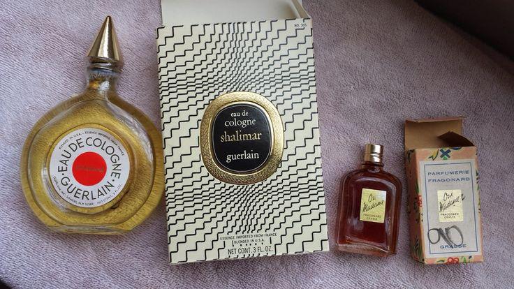 Vintage Eau de Cologne Shalimar Guerlain & Oui Madame Fragonard Parfumerie