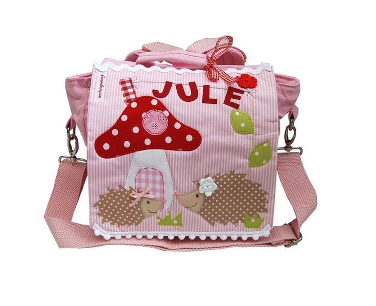 Kindergartenrucksack mit Namen -Kleine Igel- von wohnzwerg auf DaWanda.com