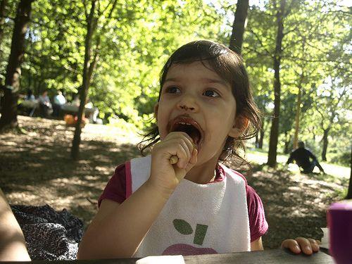 Beatriz e o corneto de chocolate