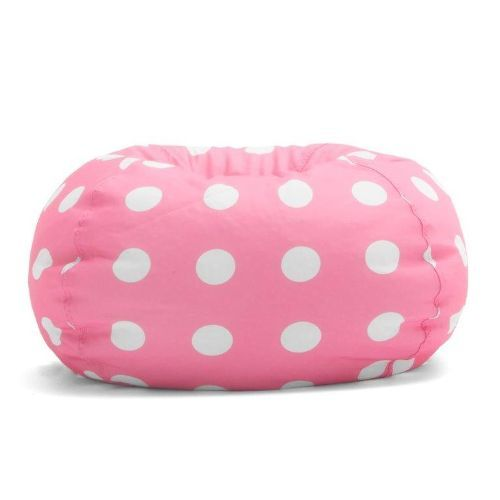 0630251 Big Joe Classic 88 Inch Bean Bag Candy Pink with White Dots