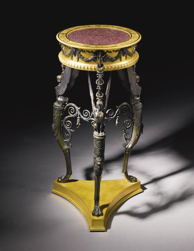 An Italian gilt-bronze and bronze athenienne by Luigi and Francesco Manfredini, Milan<br>circa 1811-13 | lot | Sotheby's