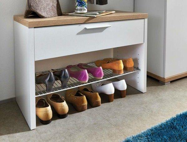 meuble à chaussures banc des idées de rangement pour couloir chaussures set 3