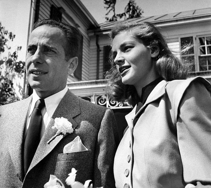 Humphrey Bogart and Lauren Bacall - May, 1945   Lauren