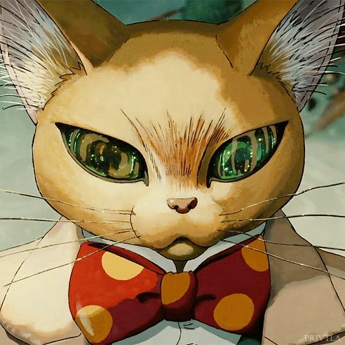 Baron from Whisper of the Heart. The eyes are animated when you click on this! *_*