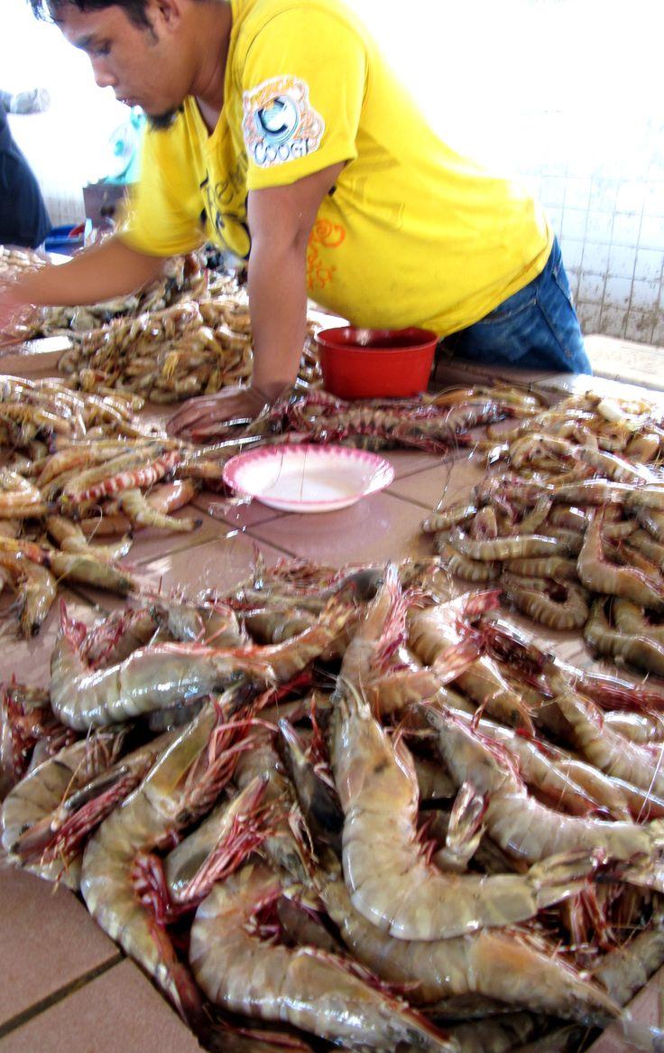 En un mercado de Borneo