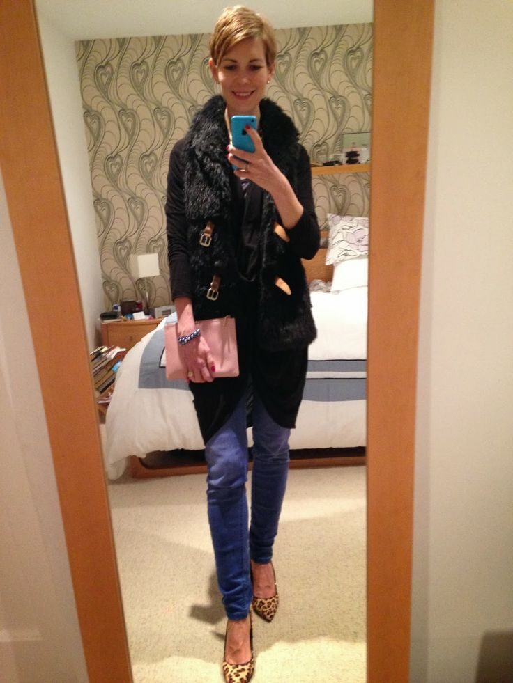Style Guile: How to wear a fur gilet for a trip to the pub!