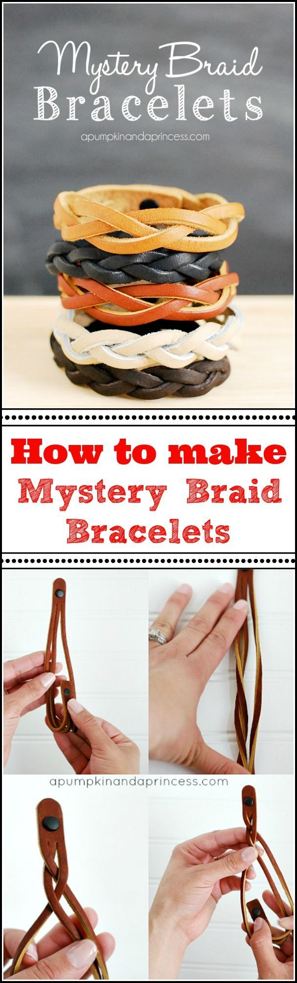 How to make a mystery braid bracelet from MichaelsMakers A Pumpkin And A Princess