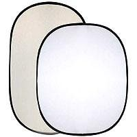 Interfit INT299 40-Inch x 66-Inch Double-Sided Collapsible Reflector (Softsun/White) | Studio lighting