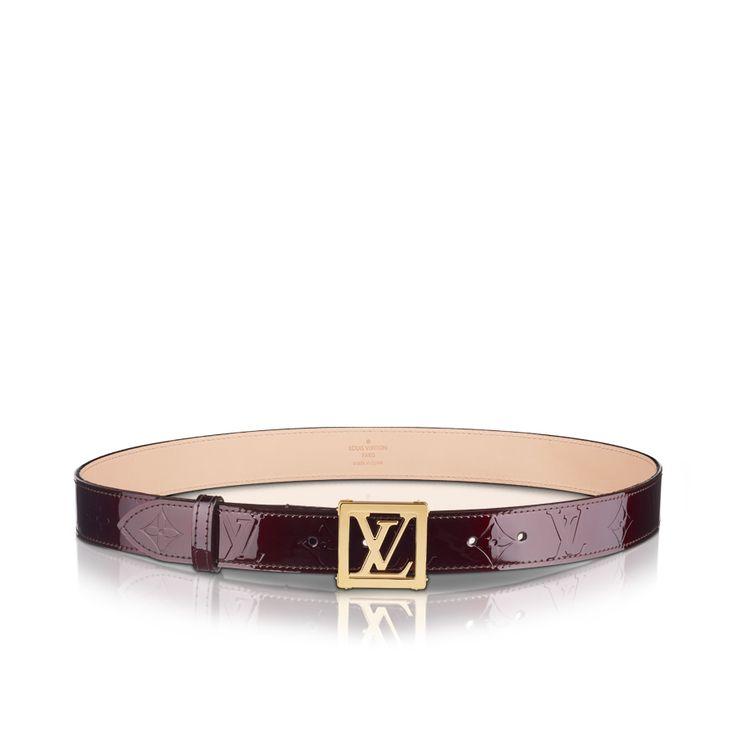 LV Frame Vernis Belt via Louis Vuitton