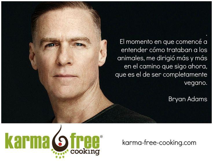 Bryan Adams sobre ser vegano    KarmaFree Cooking  #karmafree #vegan #vegetarian