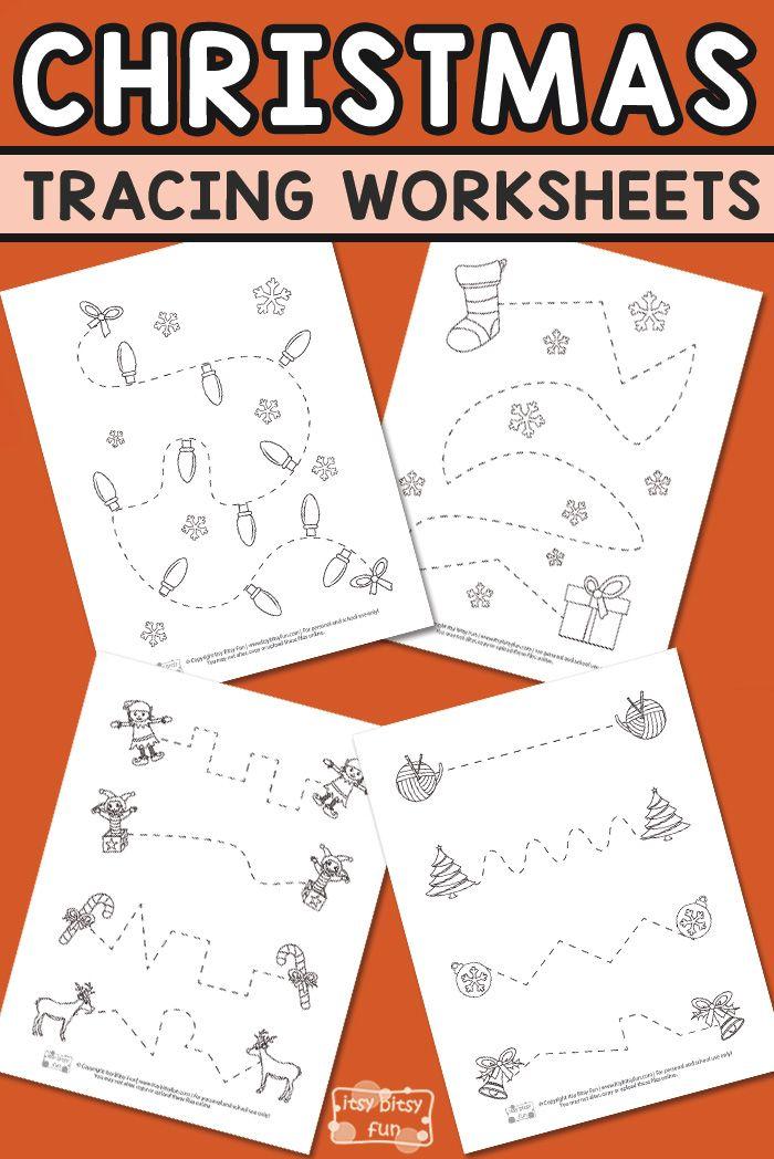 Xmas Tracing Worksheets