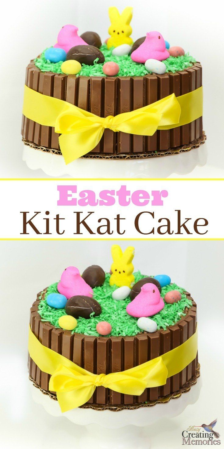Discover how to turn an ordinary cake into something extraordinary! This fun and easy Easter Kit Kat Cake tutorial is the perfect centerpiece for your Easter Celebration! Kids love to be involved in the decorating and it's filled with your favorite chocolate Candy even including iconic PEEPs and Bunnies! It includes two ideas on how to create to fit your schedule and needs.  via @2creatememories