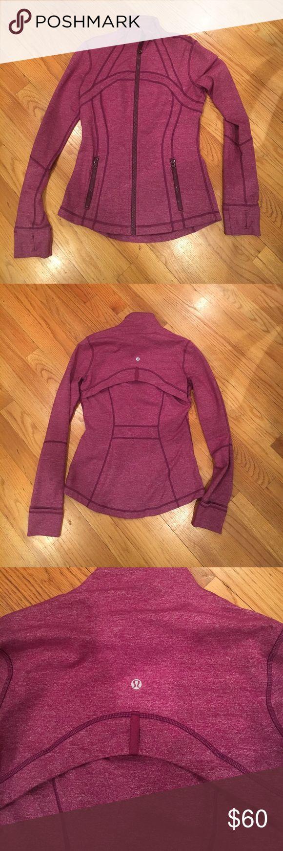 Lululemon zip up jacket Lululemon great condition purple zip up jacket. lululemon athletica Jackets & Coats