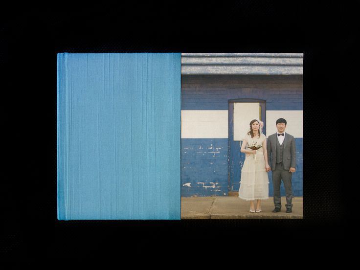 Queensberry Wedding Album  |  10×7 Overlay Matted album  |  Half Photo Front cover in Silk Twilight  |  Sheer Image Photography:
