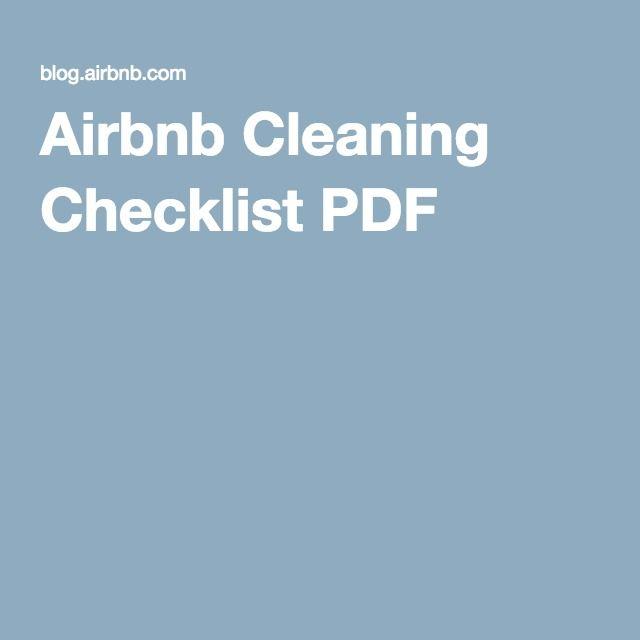 Airbnb Cleaning Checklist PDF