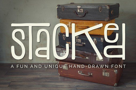 Stacked Font by Denise Chandler on @creativemarket $10