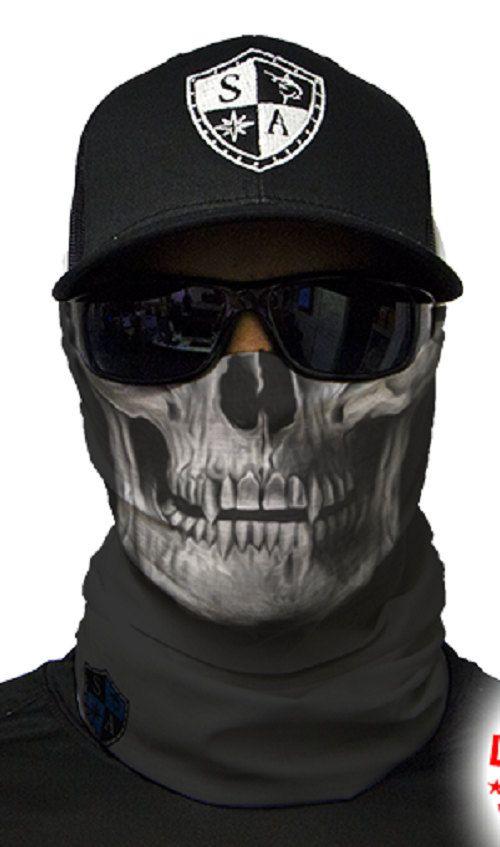 Tactical Black Skull Multi Purpose Face Shield Balaclava Bandana Neck Gaiter Buff Sun Mask Neckerchief by VaderUnlimited on Etsy