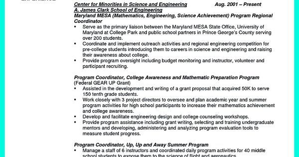 Successful Objectives in Chemical Engineering Resume Check out - College Golf Resume