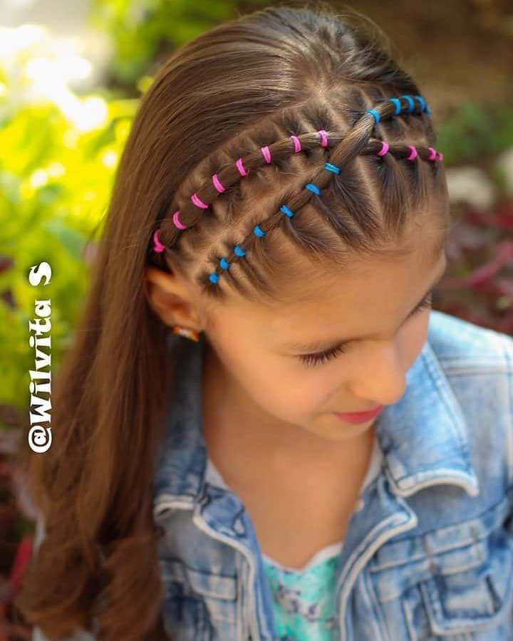 Miércoles De Video Les Dejo El Link Del Video En Mi Perfil No Olviden Mandar Sus Fotitos Peinado Con Ligas Peinados Infantiles Trenzas De Niñas