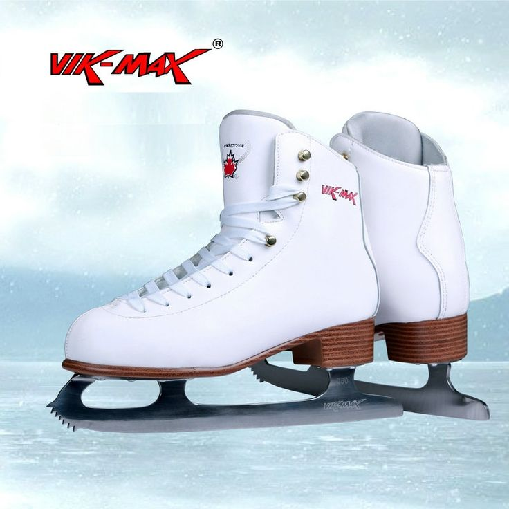 (127.01$)  Buy here - http://aih7t.worlditems.win/all/product.php?id=32797223269 - VIK-MAX white genuine leather 2017 new arrival hot sale figure skate shoes lace-up ice speed shoes