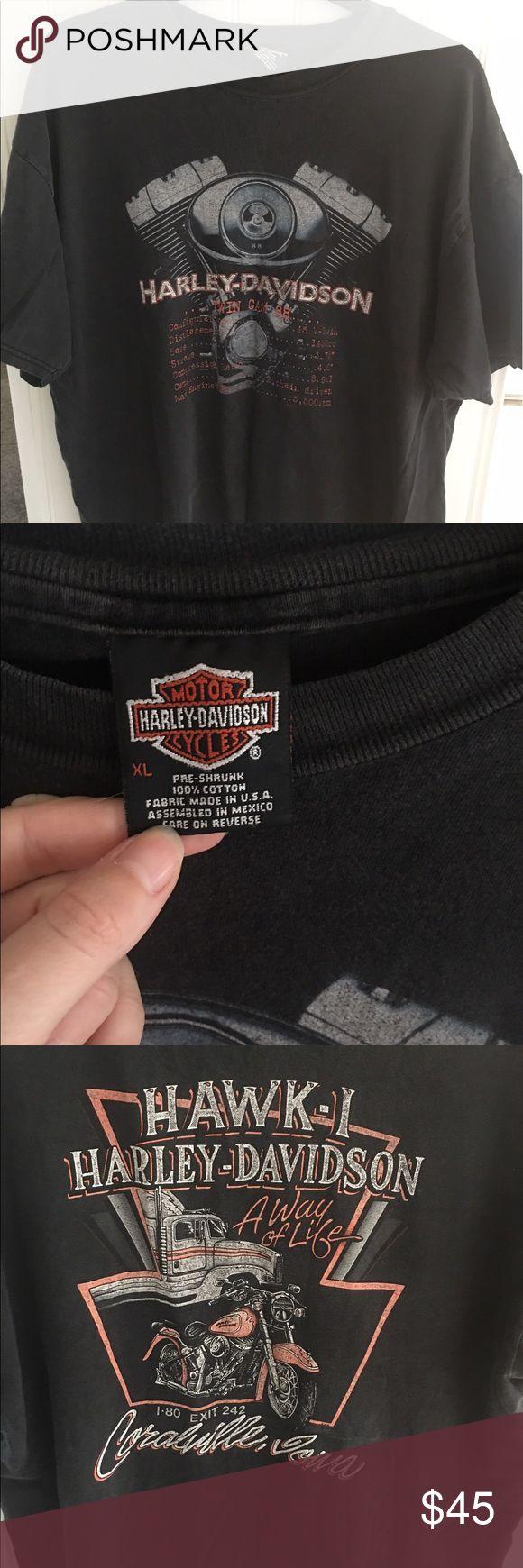 Harley Davidson t shirt Iowa Harley Davidson engine  shirt Iowa Shirts Tees - Short Sleeve