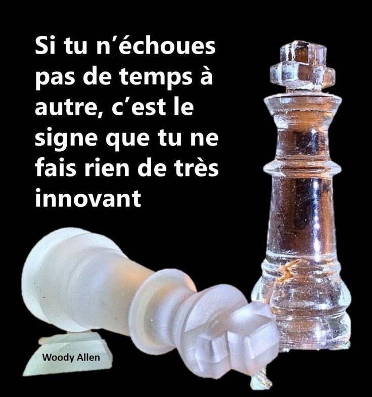 citation innovation | si tu n'échoues pas de temps à autre, c'est le signe que tu ne fais rien de très innovant