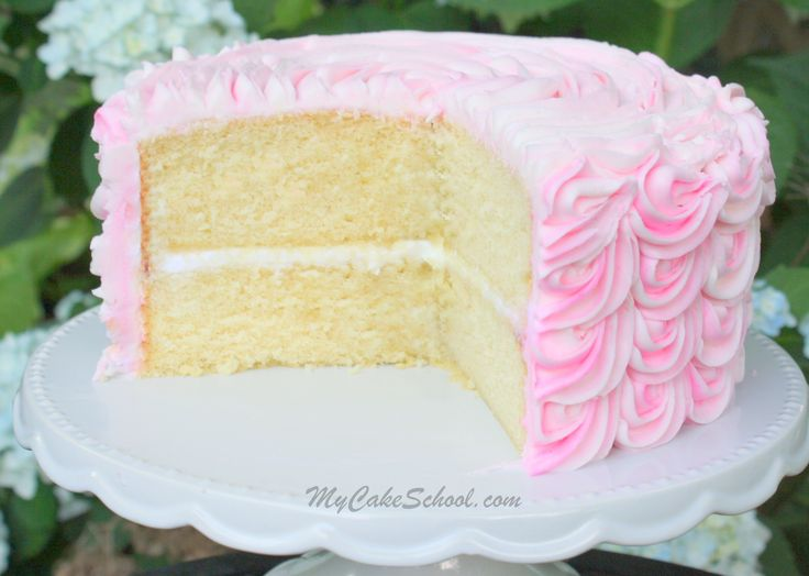 White+Almond+Sour+Cream+Cake~Doctored+Cake+Mix (Alicia thinks this will work best for a vanilla cake.)