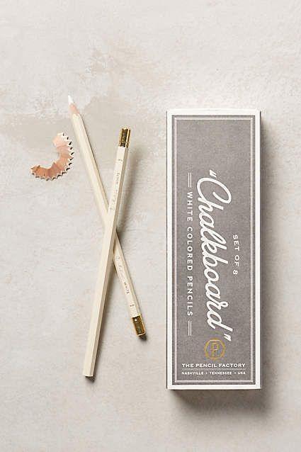 Chalkboard Pencils, set of 8 - anthropologie.com