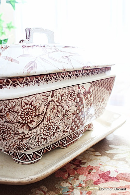transferware tureen Transferware Brown Pinterest The o'jays, For the and Tables