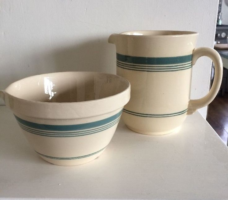 T.G.Green 'Gresley Green' Pudding Bowl & Jug