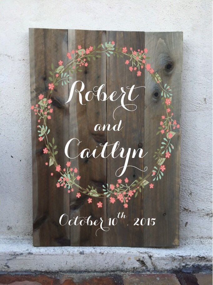 A personal favorite from my Etsy shop https://www.etsy.com/listing/235880931/welcome-wedding-sign-aged-grey-wood